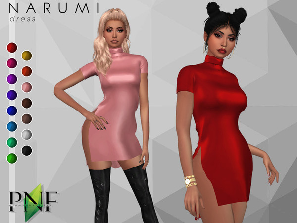NARUMI dress by Plumbobs n Fries at TSR image 220 Sims 4 Updates