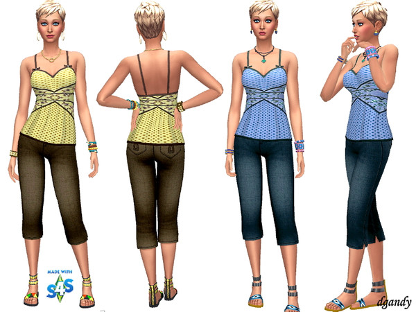 Sims 4 Jeans and Top 201908 06 by dgandy at TSR