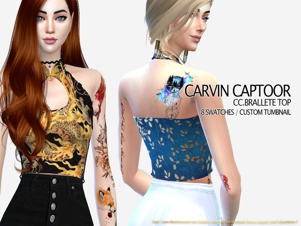 Sims 4 Brallete top by carvin captoor at TSR