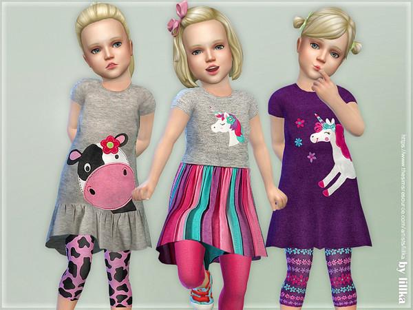 Sims 4 Toddler Dress & Leggings by lillka at TSR