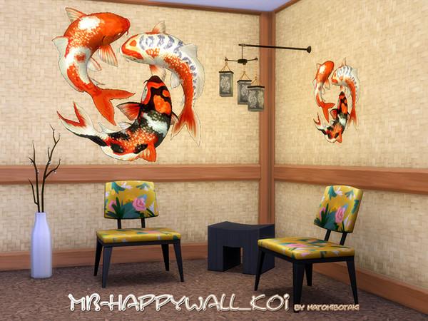 Sims 4 MB Happy Wall Koi by matomibotaki at TSR