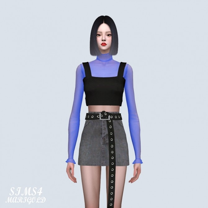 Sims 4 Bustier With See through T (P) at Marigold