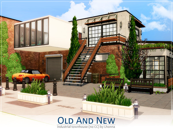 Sims 4 Old and New townhouse by Lhonna at TSR