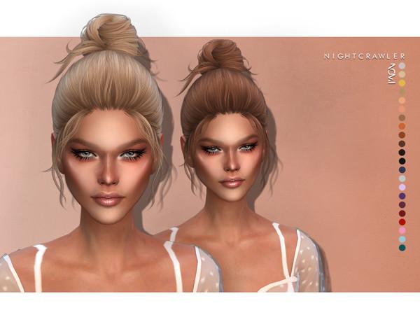 Sims 4 Nomi hair by Nightcrawler at TSR