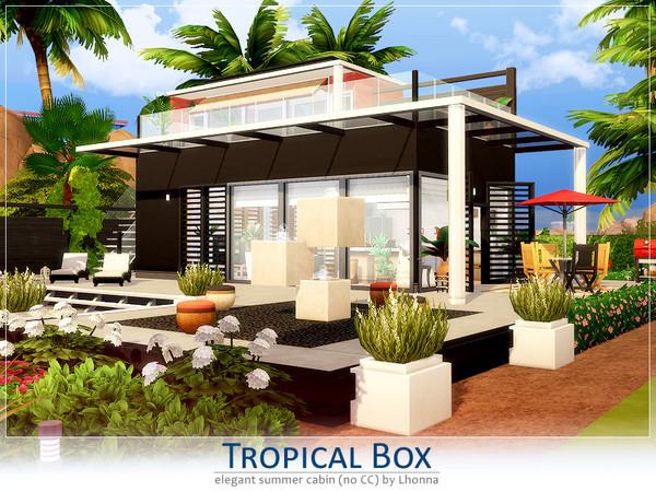 Sims 4 Tropical Box house by Lhonna at TSR