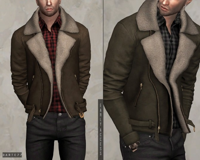 Fur Suede Jacket (P) at Darte77 image 2613 670x536 Sims 4 Updates