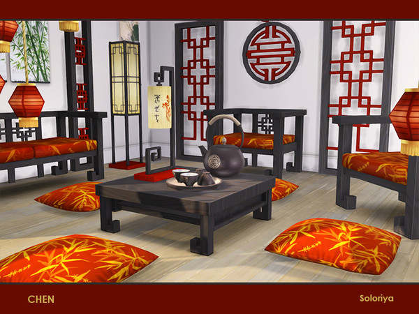 Chen set of furniture for asian interiors by soloriya at TSR image 262 Sims 4 Updates