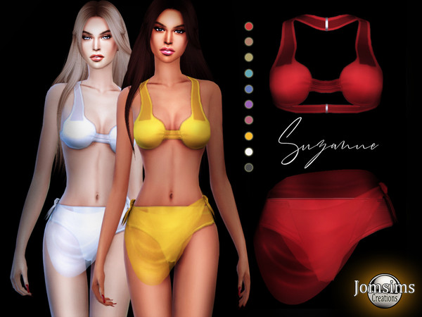 Sims 4 Suzanne swimsuit in veil by jomsims at TSR