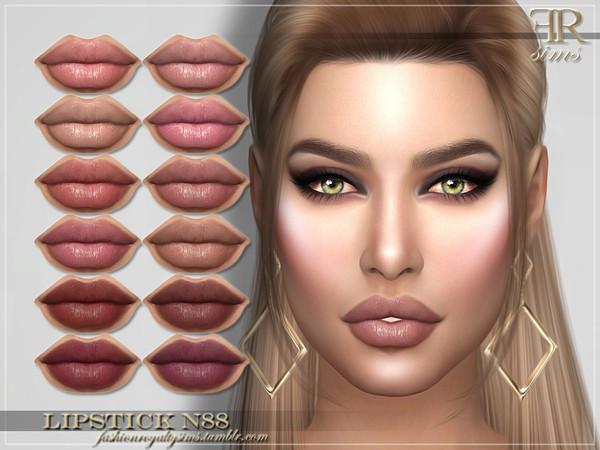 Sims 4 FRS Lipstick N88 by FashionRoyaltySims at TSR