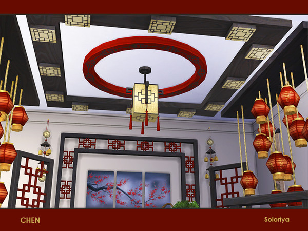 Chen set of furniture for asian interiors by soloriya at TSR image 282 Sims 4 Updates