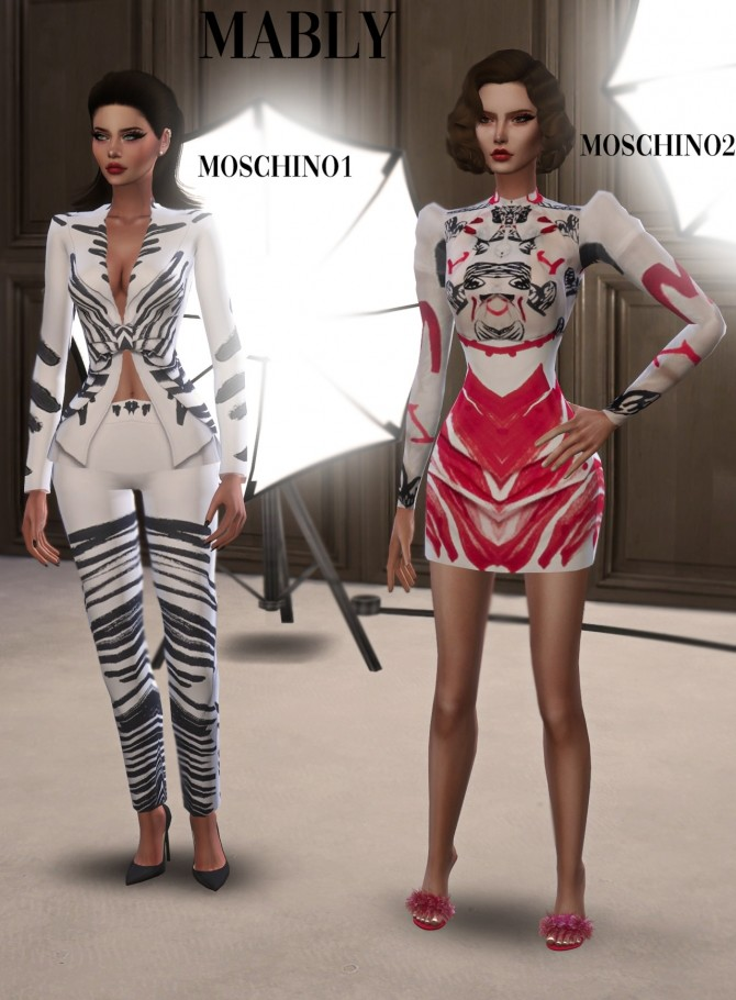Sims 4 MOSQUINO SET at Mably Store