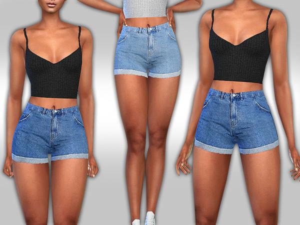 Sims 4 Female High Weist V. Moda Shorts by Saliwa at TSR