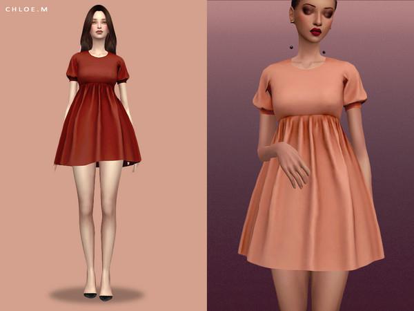 Sims 4 Short Dress by ChloeMMM at TSR