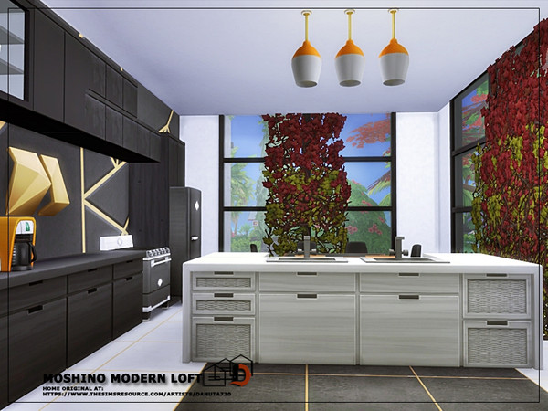 Sims 4 Moshino modern Loft by Danuta720 at TSR