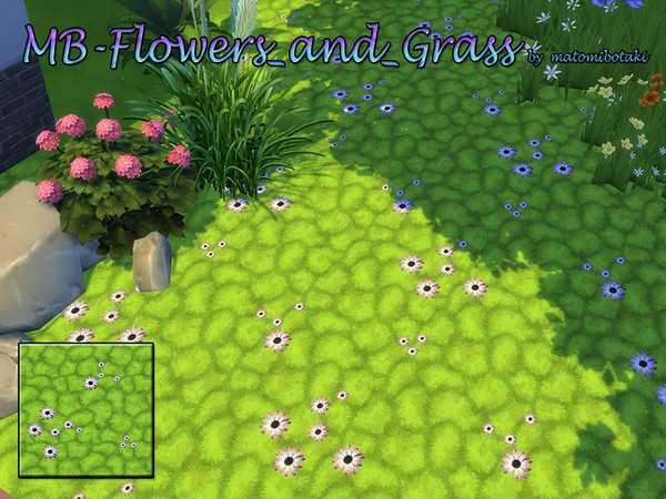 Sims 4 MB Flowers and Grass by matomibotaki at TSR