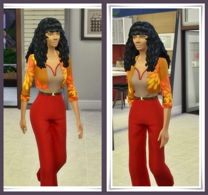 Sims 4 Donna Curls hair at Birksches Sims Blog