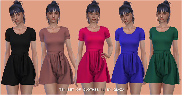 SET OF CLOTHES 14 (P) at All by Glaza image 2991 Sims 4 Updates