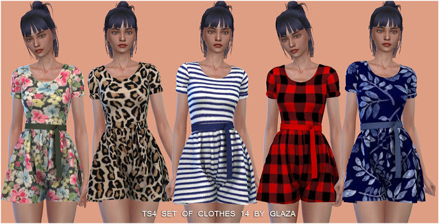 SET OF CLOTHES 14 (P) at All by Glaza image 300 Sims 4 Updates