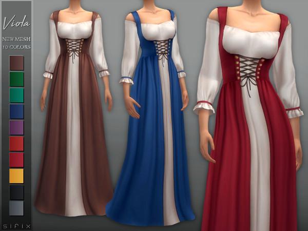 Sims 4 Viola Dress by Sifix at TSR