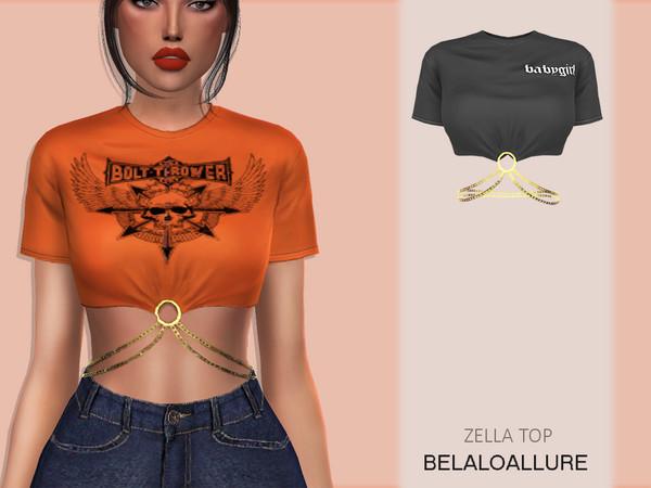 Sims 4 Belaloallure zella top by belal1997 at TSR