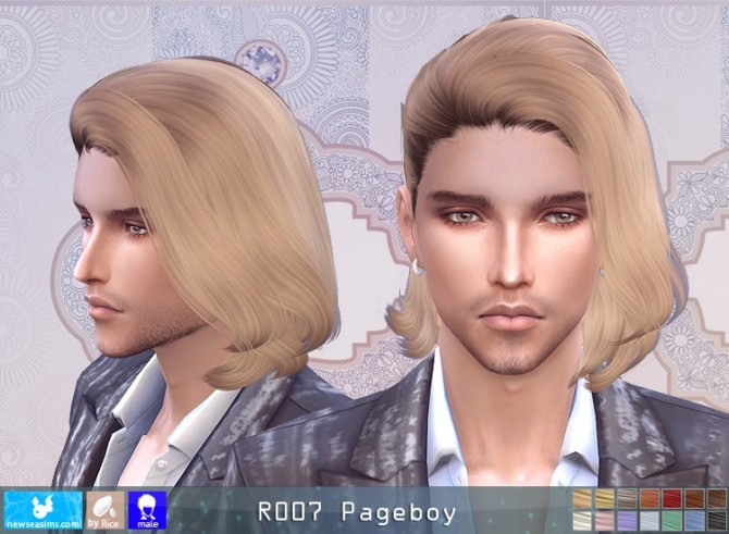Sims 4 R007 Pageboy hair M (P) at Newsea Sims 4