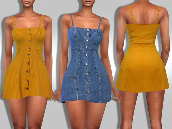 Sims 4 Two Stylish Mini Dresses in One Package by Saliwa at TSR