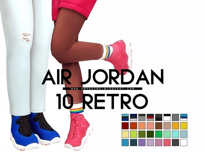 Sims 4 Air Jordan 10 Retro at Onyx Sims