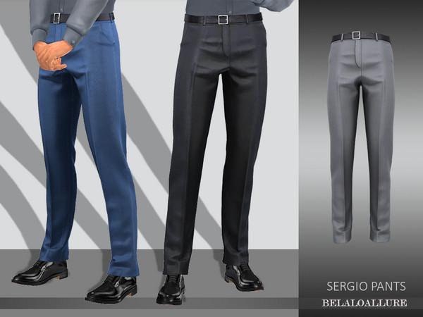 Sims 4 Belaloallure Sergio pants by belal1997 at TSR