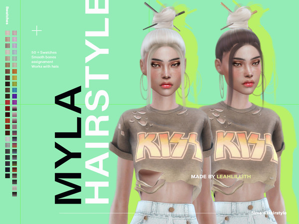 Myla Hair by Leah Lillith at TSR image 3127 Sims 4 Updates