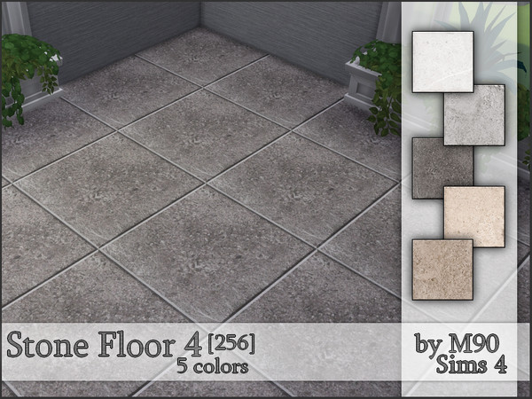 M90 Stone Floor 4 (256) by Mircia90 at TSR image 3220 Sims 4 Updates