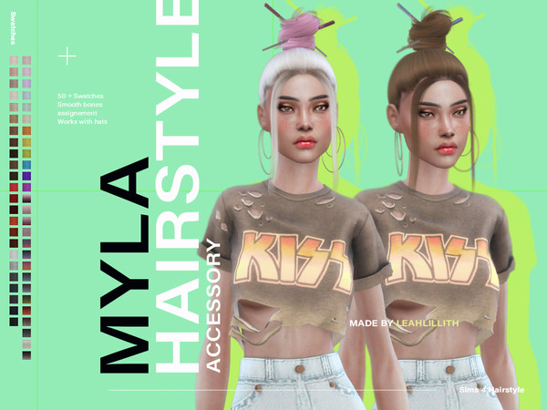 Myla Hair by Leah Lillith at TSR image 3224 Sims 4 Updates