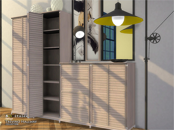 Sims 4 Trevino Hallway by ArtVitalex at TSR