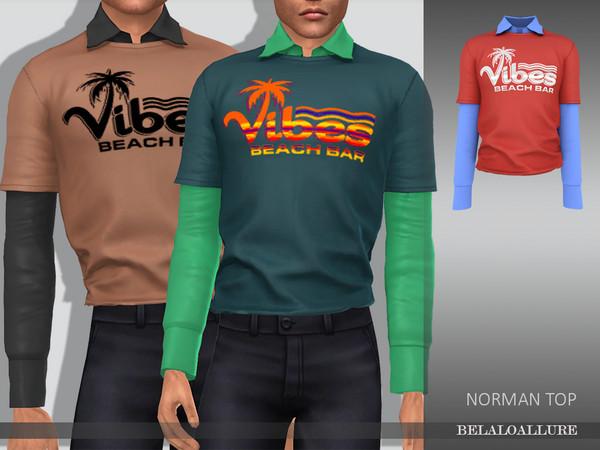 Sims 4 Belaloallure norman top by belal1997 at TSR
