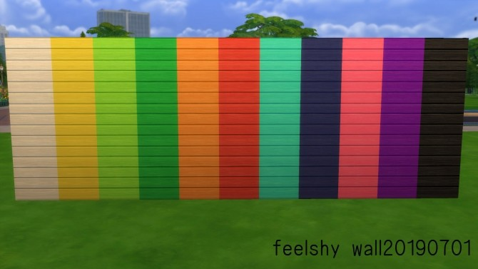 Sims 4 Retro + colorful wall and floor value pack by Feelshy at Mod The Sims
