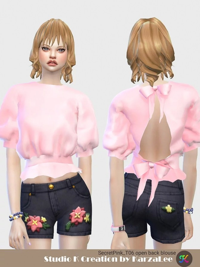 T06 open back blouse at Studio K Creation image 3501 670x893 Sims 4 Updates