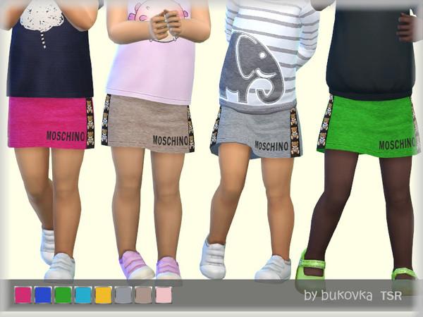 Sims 4 Skirt Toddler by bukovka at TSR