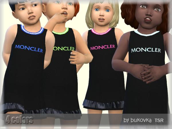 Sims 4 Dress Toddler by bukovka at TSR