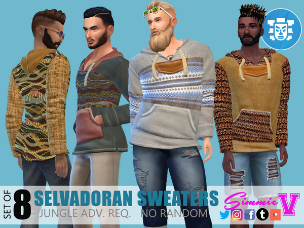 Sims 4 Selvadoran Sweaters by SimmieV at TSR