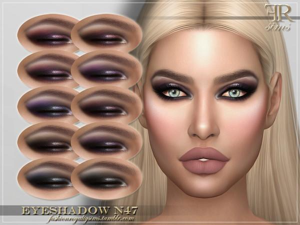 Sims 4 FRS Eyeshadow N47 by FashionRoyaltySims at TSR