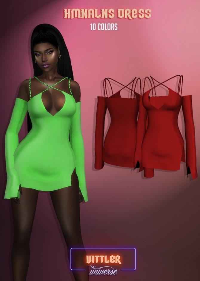 HMNALNS Dress at Vittler Universe image 3651 670x944 Sims 4 Updates