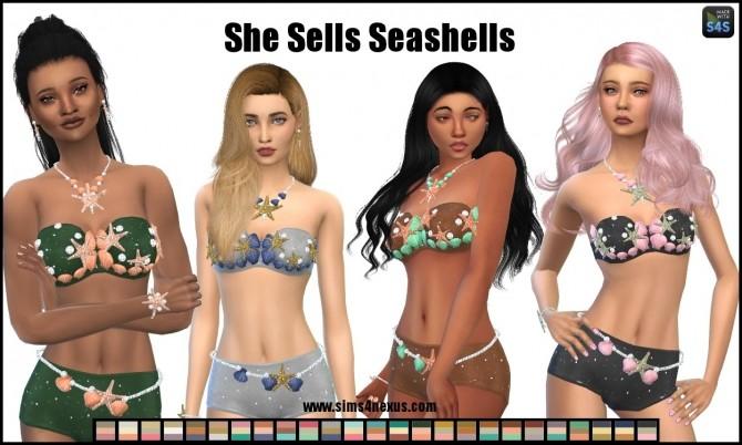 Sims 4 She Sells Seashells by SamanthaGump at Sims 4 Nexus