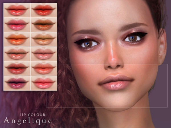 Angelique Lip Colour by Screaming Mustard at TSR image 3720 Sims 4 Updates