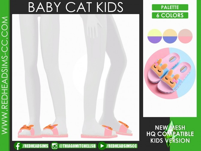 Sims 4 BABY CAT SHOES KIDS AND TODDLER by Thiago Mitchell at REDHEADSIMS