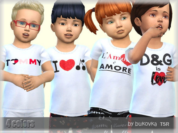 Sims 4 Shirts White by bukovka at TSR