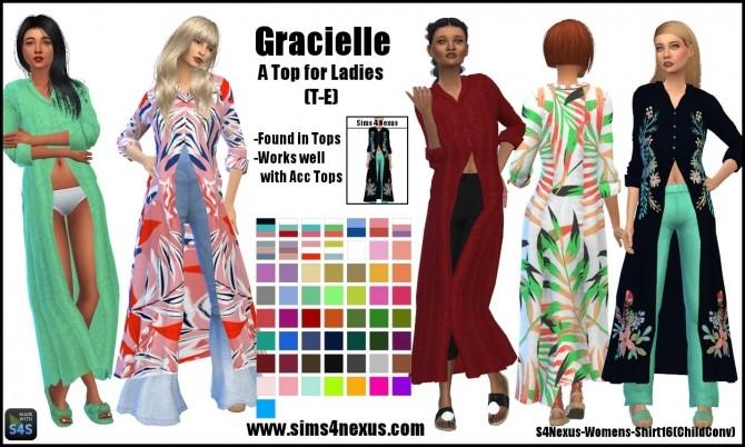 Sims 4 Gracielle top by SamanthaGump at Sims 4 Nexus
