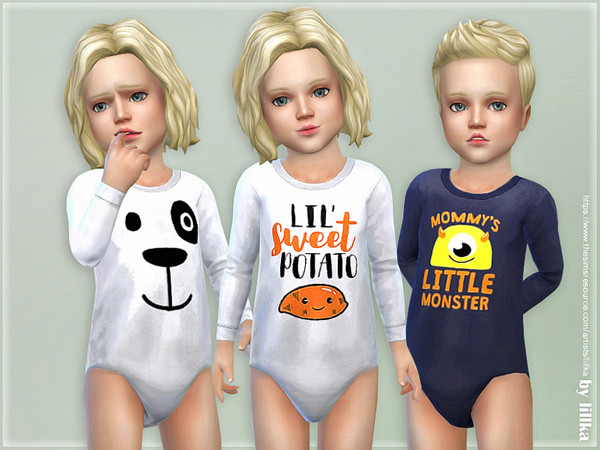 Sims 4 Toddler Onesie 03 by lillka at TSR