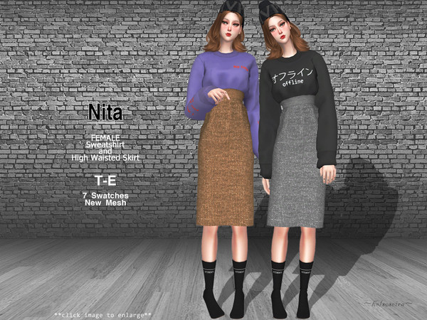 Sims 4 NITA Outfit by Helsoseira at TSR