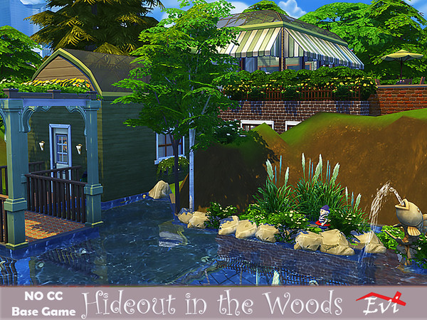 Hideout in the woods by evi at TSR image 4210 Sims 4 Updates