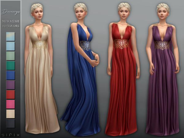Sims 4 Daenerys Dress by Sifix at TSR