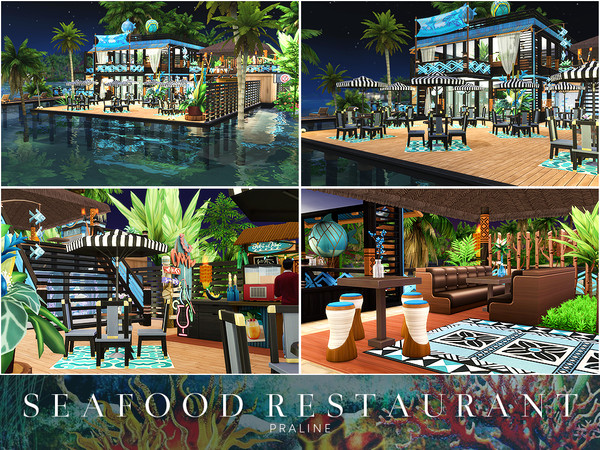 Sims 4 Seafood Restaurant by Pralinesims at TSR